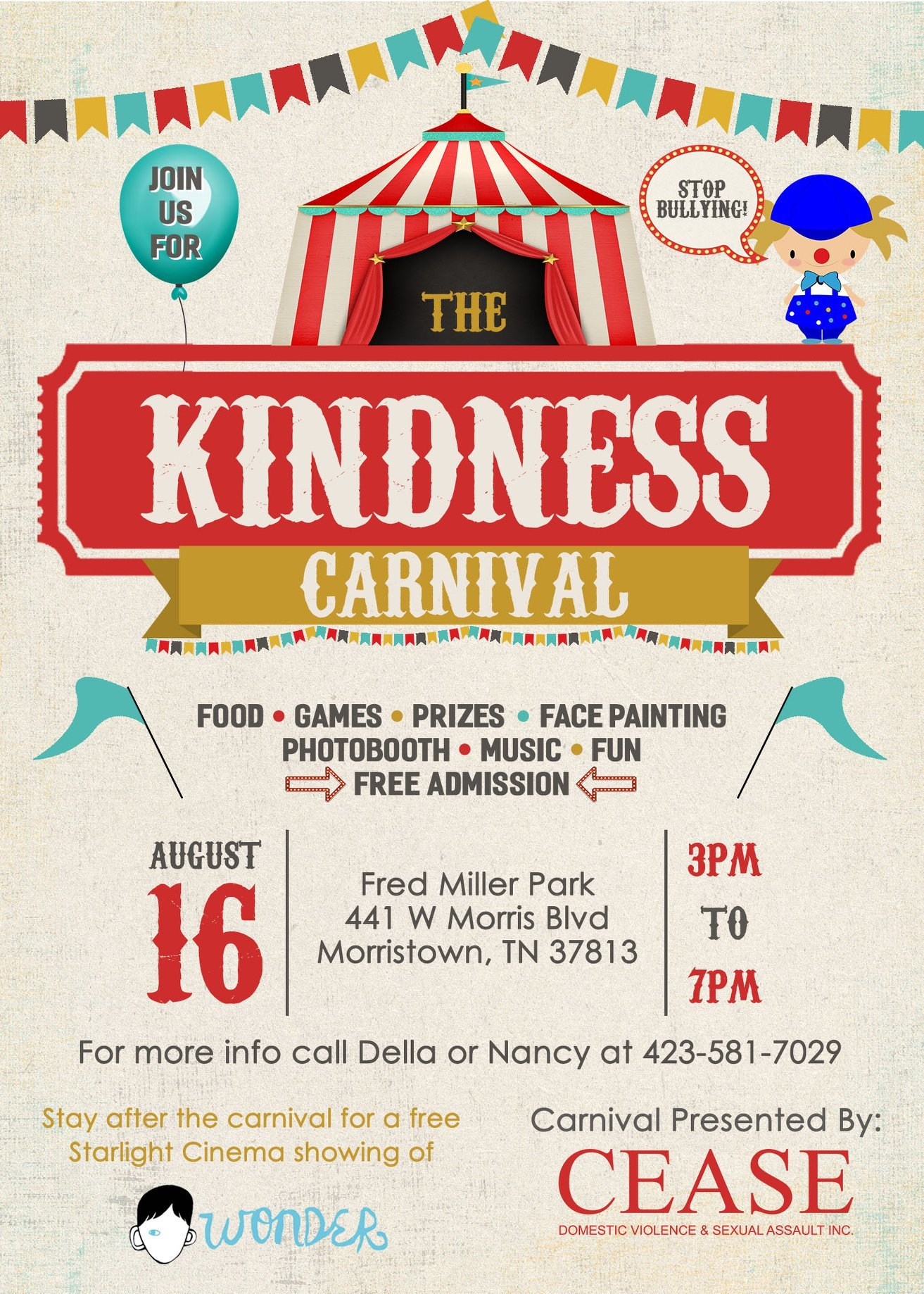 Kindness Carnival - Morristown's Task Force on Diversity